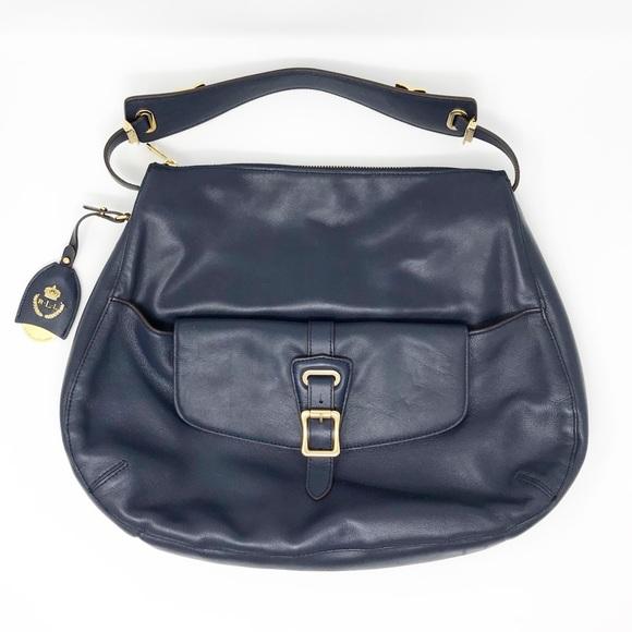 Lauren Ralph Lauren Handbags - Lauren Ralph Lauren Navy Leather Hobo Bag 871c0b347ba68